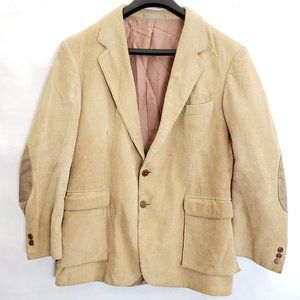 Corduroy Sport Jacket Suede Elbow patch Size 42 R